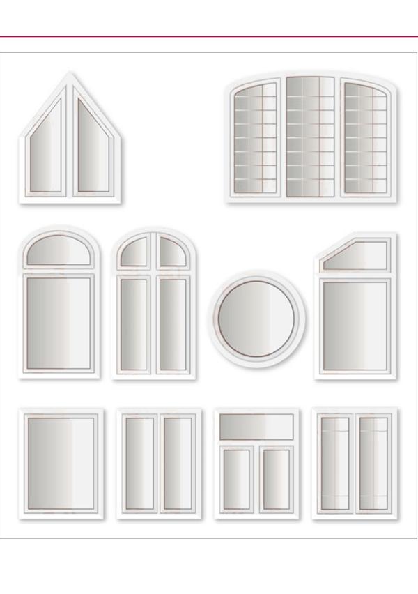 Elemente te mëdhenj me profil te holle për ndriçim optimal dhe depërtim te rrezeve te diellit si dhe arkitekture moderne